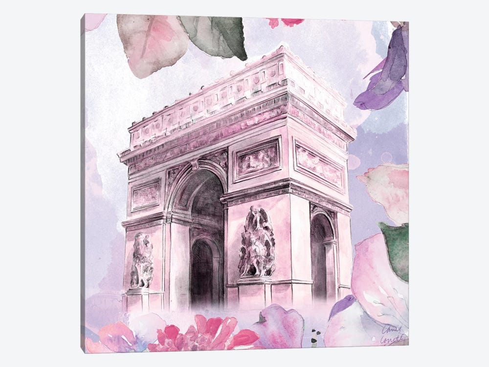 Parisian Blossoms II by Lanie Loreth 1-piece Canvas Wall Art