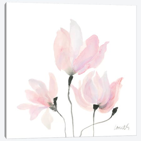 Pastel Floral Sway I Canvas Print #LNL149} by Lanie Loreth Canvas Artwork