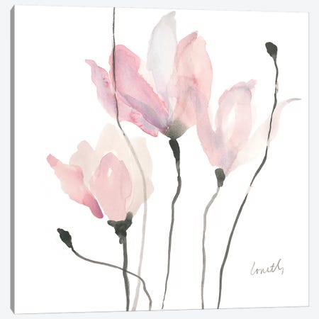 Pastel Floral Sway II Canvas Print #LNL150} by Lanie Loreth Canvas Art Print