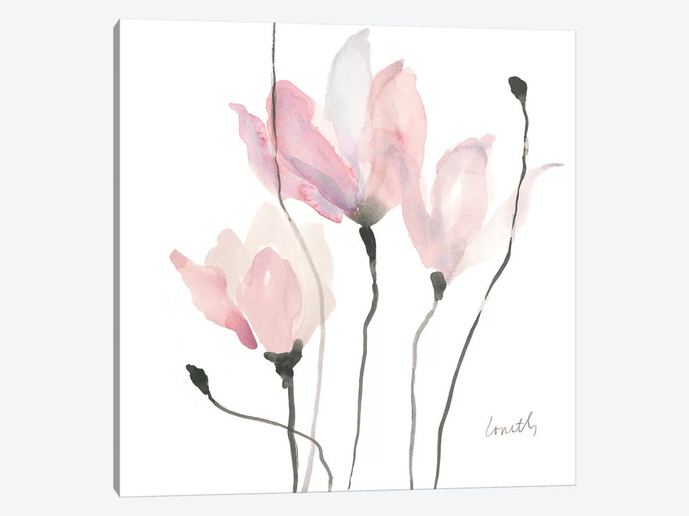 Pastel Floral Sway II by Lanie Loreth 1-piece Canvas Artwork