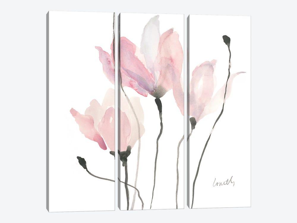 Pastel Floral Sway II by Lanie Loreth 3-piece Canvas Wall Art