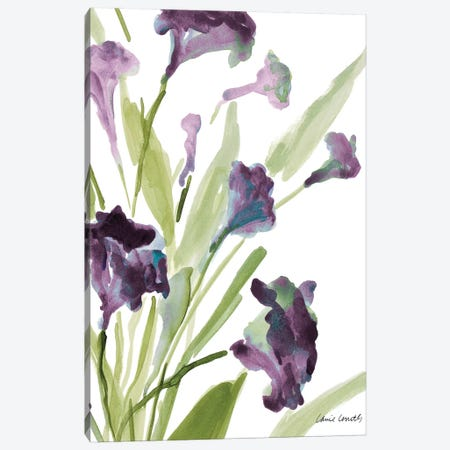 Purple Belles II Canvas Print #LNL154} by Lanie Loreth Canvas Wall Art