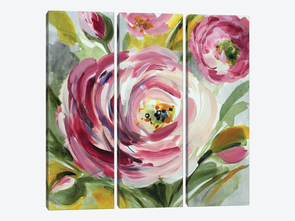 Ranunculus Rosa I by Lanie Loreth 3-piece Canvas Art Print
