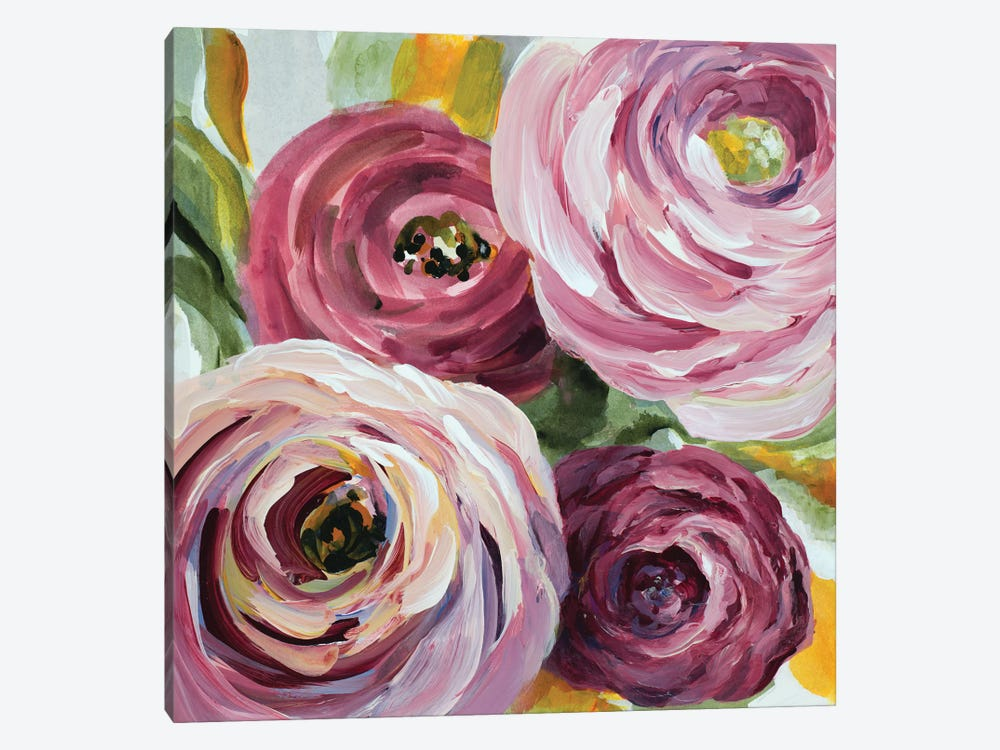 Ranunculus Rosa II by Lanie Loreth 1-piece Canvas Artwork