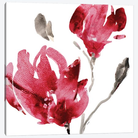 Red Magnolias Canvas Print #LNL159} by Lanie Loreth Canvas Art Print