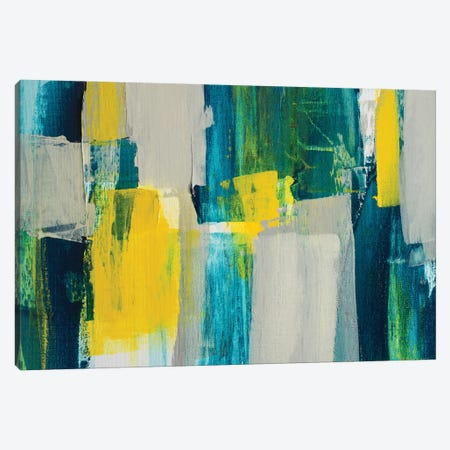 Revealing Teal I Canvas Print #LNL163} by Lanie Loreth Canvas Artwork