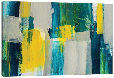Revealing Teal I Canvas Art Print