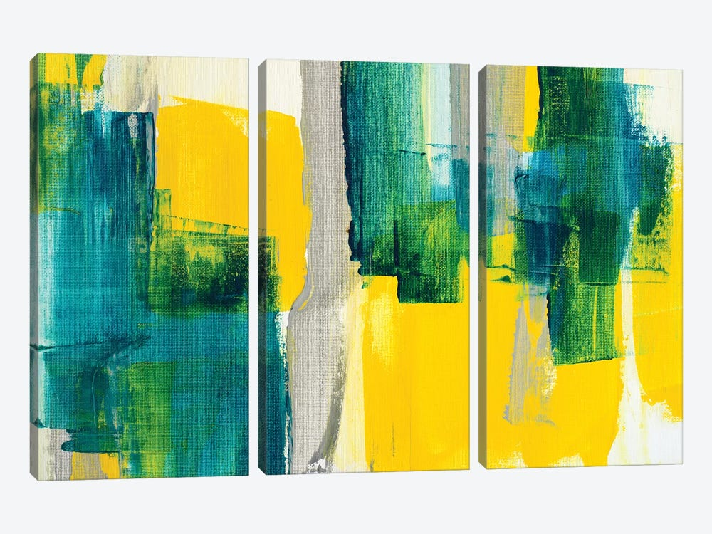 Revealing Teal II by Lanie Loreth 3-piece Canvas Print