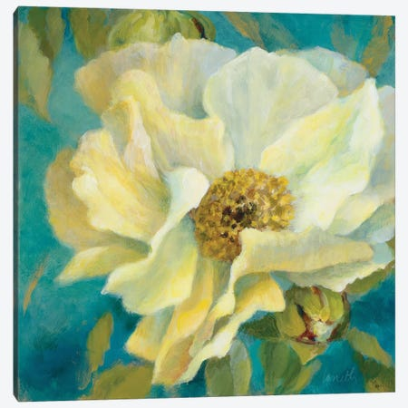 Sen?orita Peony and Buds Canvas Print #LNL169} by Lanie Loreth Canvas Art