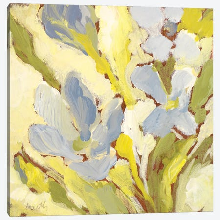 Begonia Bleu I Canvas Print #LNL16} by Lanie Loreth Canvas Art Print