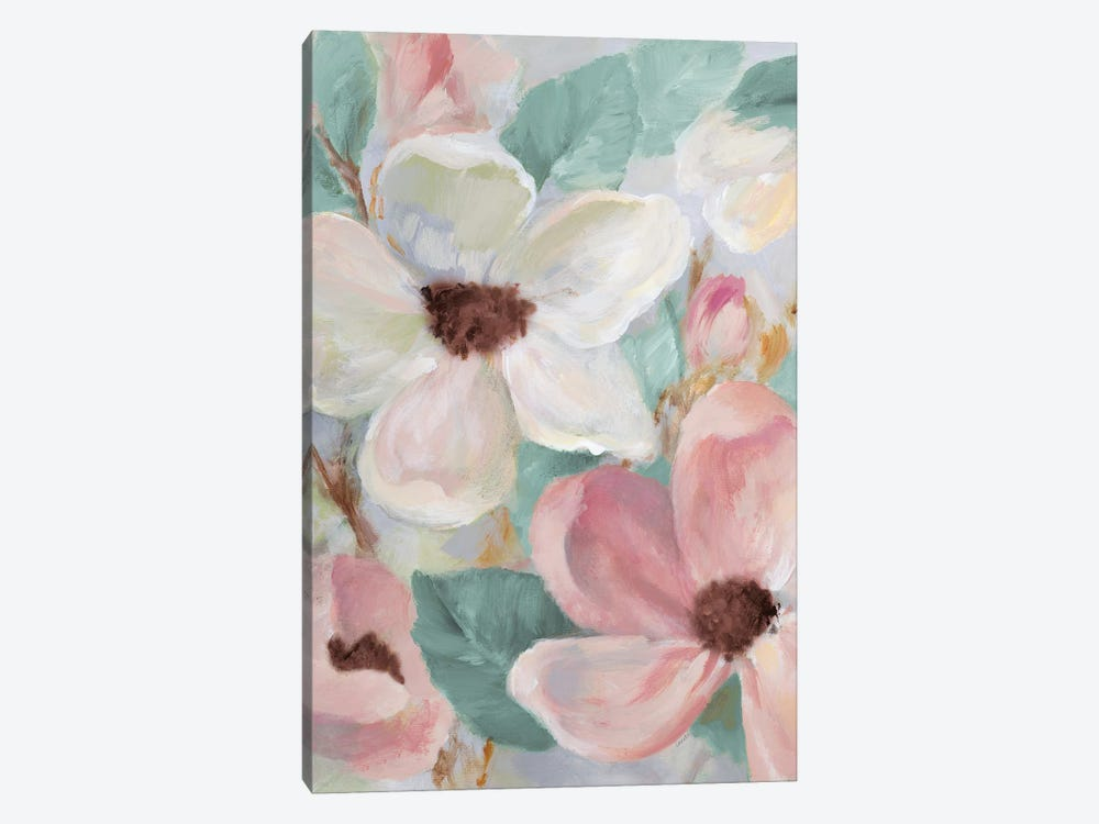 Silently Bloom Teal I by Lanie Loreth 1-piece Canvas Wall Art