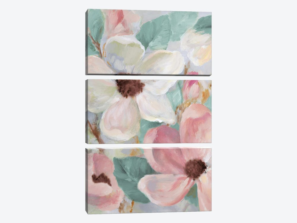 Silently Bloom Teal I by Lanie Loreth 3-piece Canvas Art