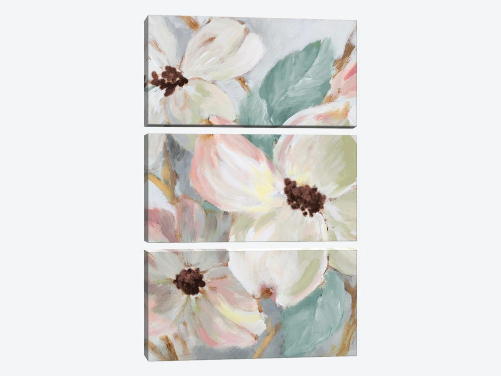 Silently Bloom Teal II by Lanie Loreth 3-piece Art Print