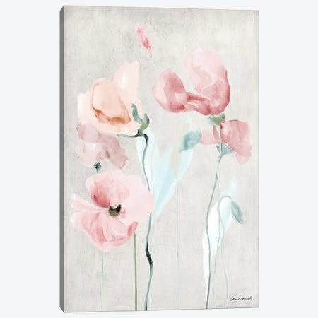 Soft Pink Poppies II Canvas Print #LNL180} by Lanie Loreth Canvas Art