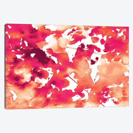 Splash of Pinks In Fall I Canvas Print #LNL182} by Lanie Loreth Canvas Artwork
