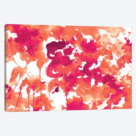 Splash of Pinks In Fall II Canvas Print #LNL183} by Lanie Loreth Canvas Wall Art