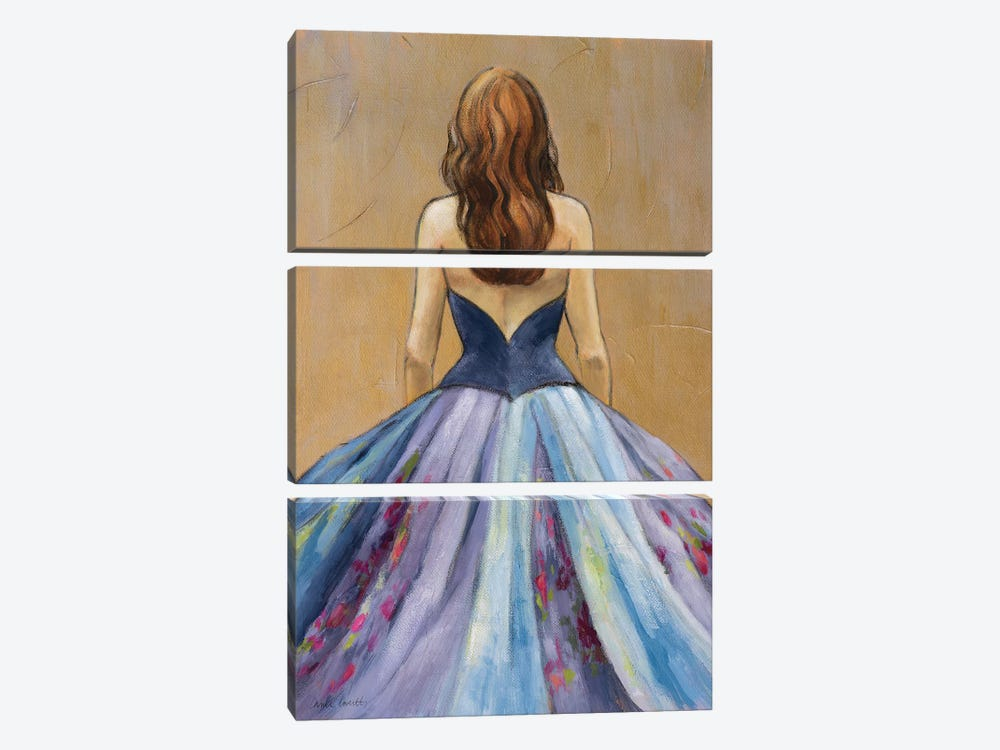 Still Woman in Dress by Lanie Loreth 3-piece Canvas Art Print