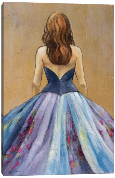 Still Woman in Dress Canvas Art Print