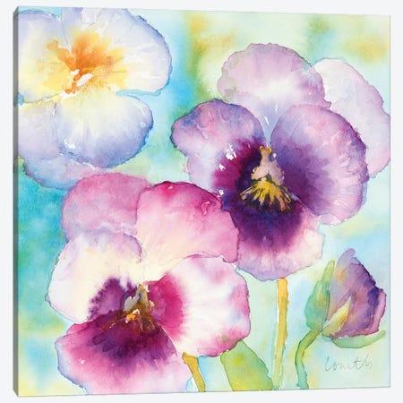 Sunny Side Orchids Canvas Print #LNL199} by Lanie Loreth Canvas Art Print