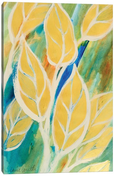 Swaying Leaves I Canvas Art Print