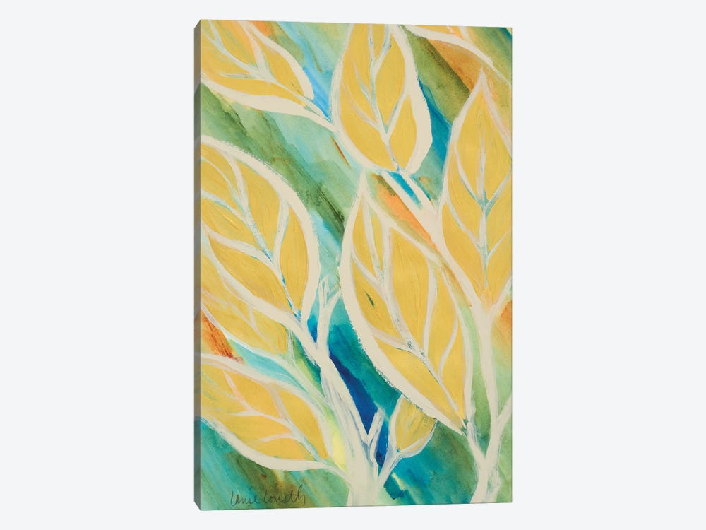 Swaying Leaves II by Lanie Loreth 1-piece Canvas Artwork