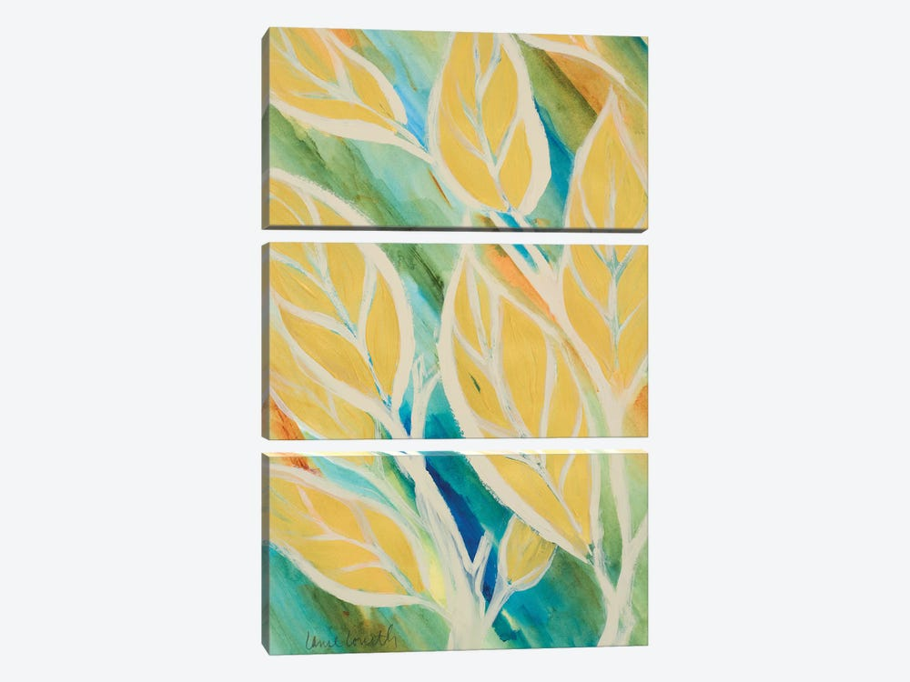 Swaying Leaves II by Lanie Loreth 3-piece Canvas Wall Art