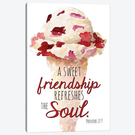 Sweet Friendship Canvas Print #LNL202} by Lanie Loreth Art Print