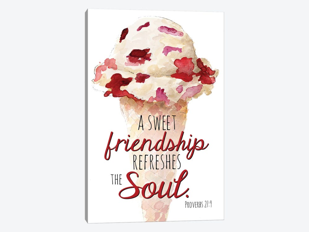 Sweet Friendship by Lanie Loreth 1-piece Canvas Art Print