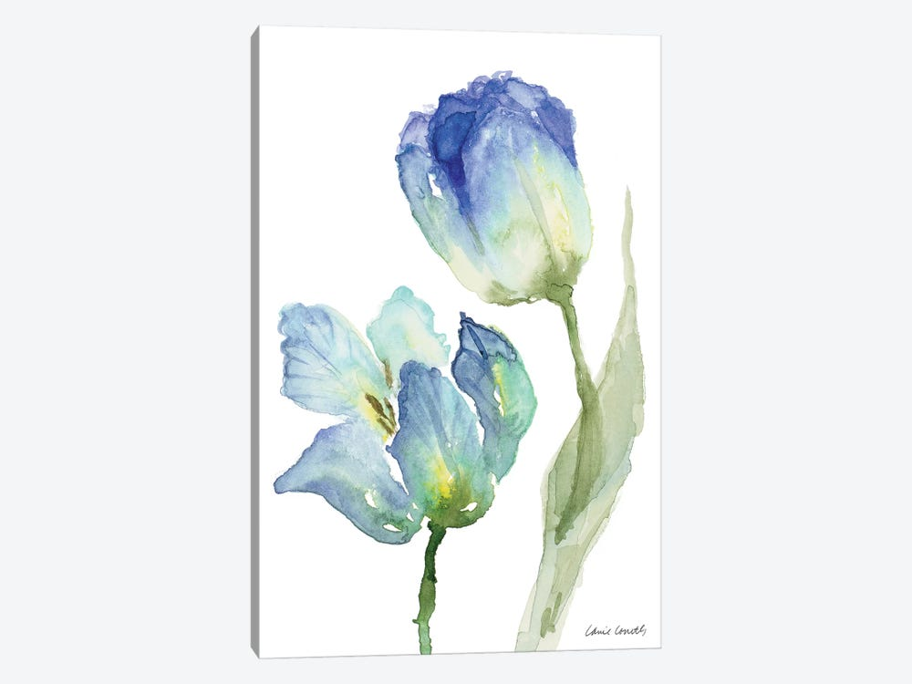 Teal and Lavender Tulips III by Lanie Loreth 1-piece Canvas Art