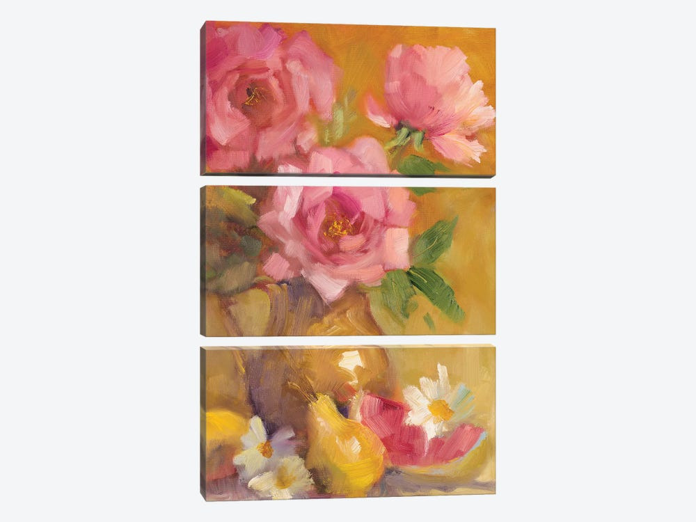 Three Roses by Lanie Loreth 3-piece Canvas Art Print