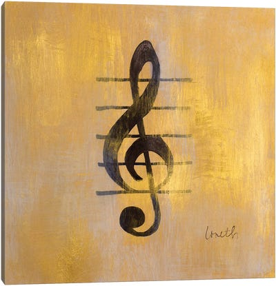 Treble Clef Canvas Art Print
