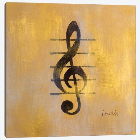 Treble Clef Canvas Print #LNL216} by Lanie Loreth Canvas Art Print