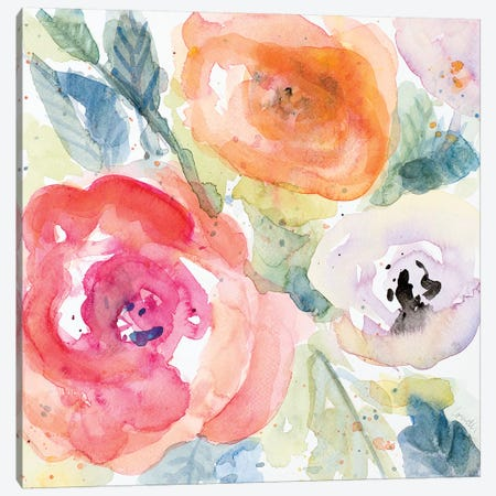 Blooms Abound I Canvas Print #LNL21} by Lanie Loreth Art Print