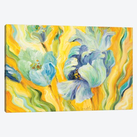 Tulips Sway Canvas Print #LNL221} by Lanie Loreth Canvas Art Print