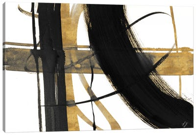 Urban Vibe with Gold I Canvas Art Print