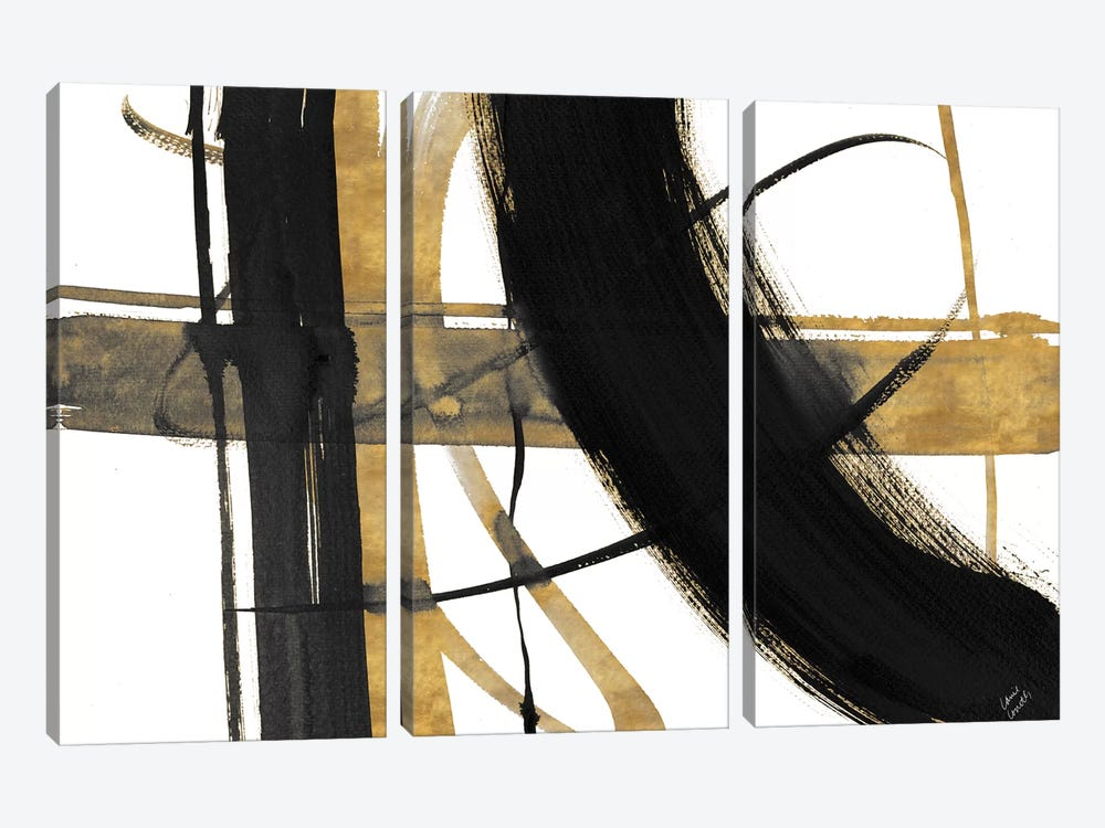 Urban Vibe with Gold I by Lanie Loreth 3-piece Art Print