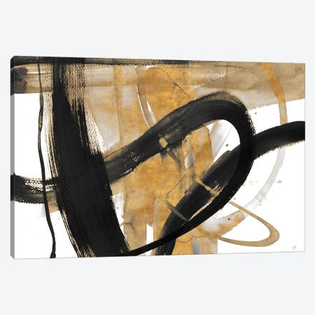 Urban Vibe with Gold II Canvas Print #LNL227} by Lanie Loreth Canvas Art