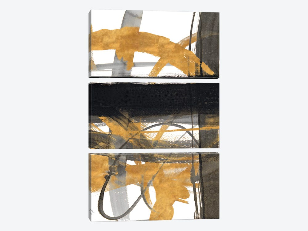 Urban Vibe With Gold III by Lanie Loreth 3-piece Art Print