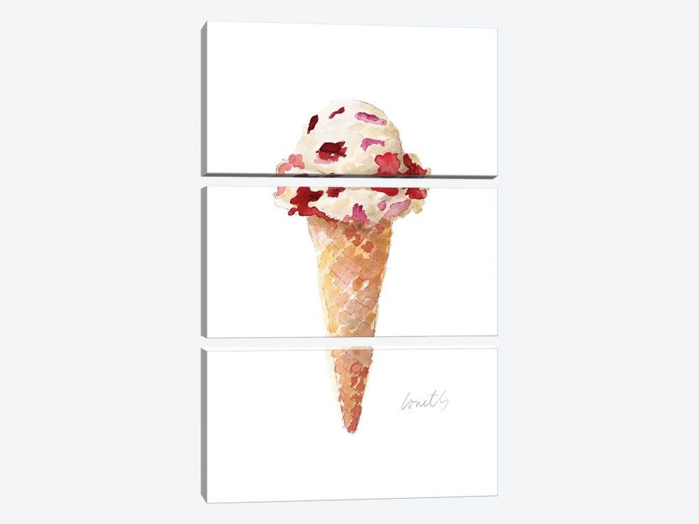 Watercolor Ice Cream Cone II by Lanie Loreth 3-piece Art Print