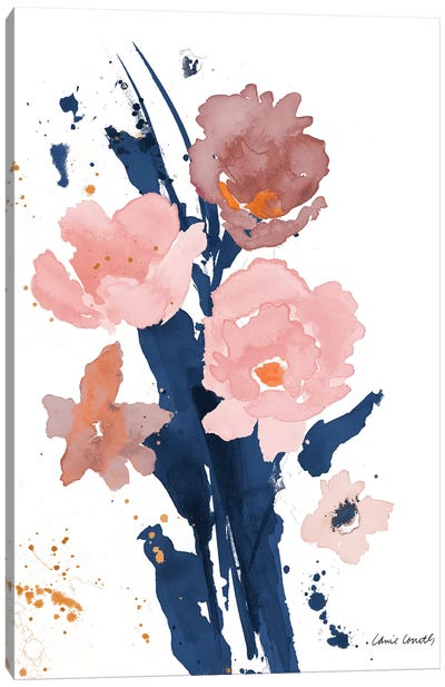 Watercolor Pink Poppies II Canvas Art Print