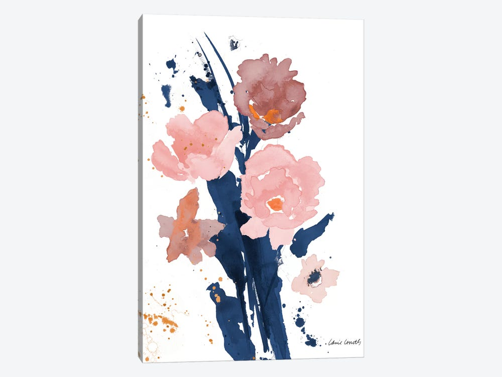 Watercolor Pink Poppies II 1-piece Canvas Art
