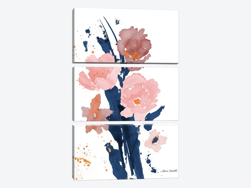 Watercolor Pink Poppies II 3-piece Canvas Artwork