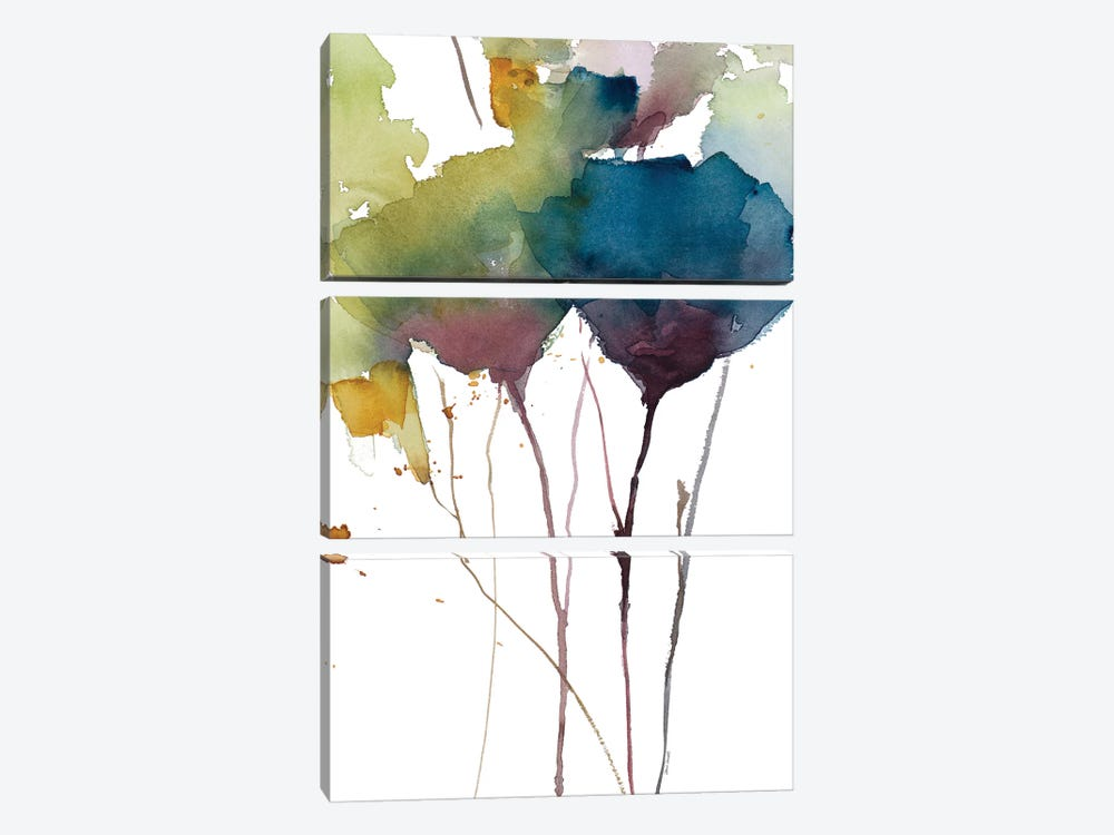 Wildflower Grace II by Lanie Loreth 3-piece Canvas Art Print