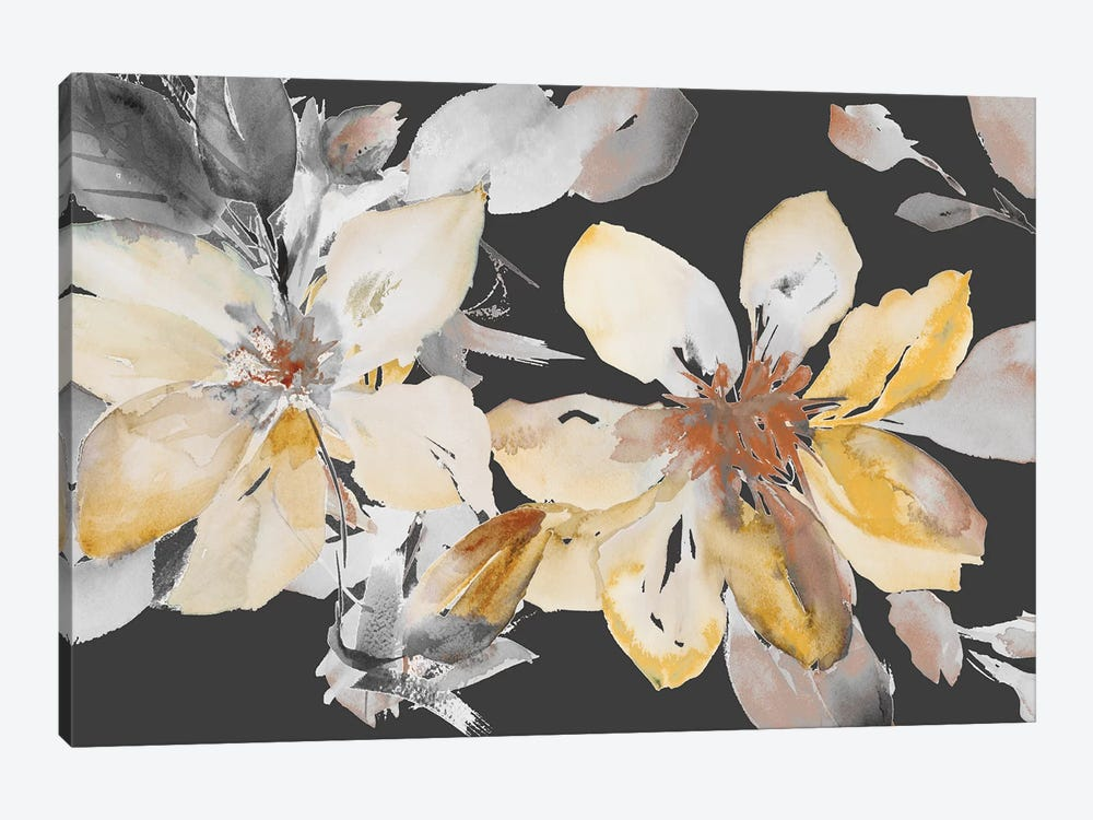 Yellow Clematis on Grey by Lanie Loreth 1-piece Canvas Print