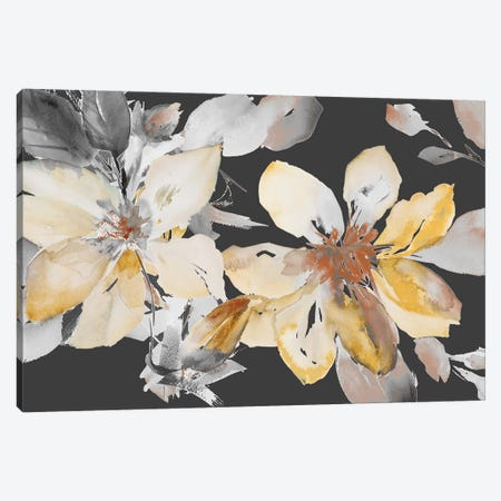 Yellow Clematis on Grey Canvas Print #LNL242} by Lanie Loreth Canvas Print