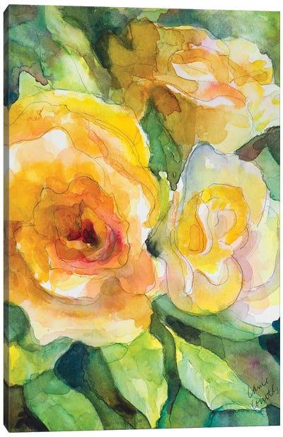 Yellow Roses Garden Canvas Art Print