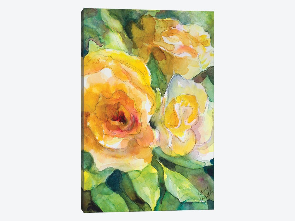 Yellow Roses Garden 1-piece Art Print