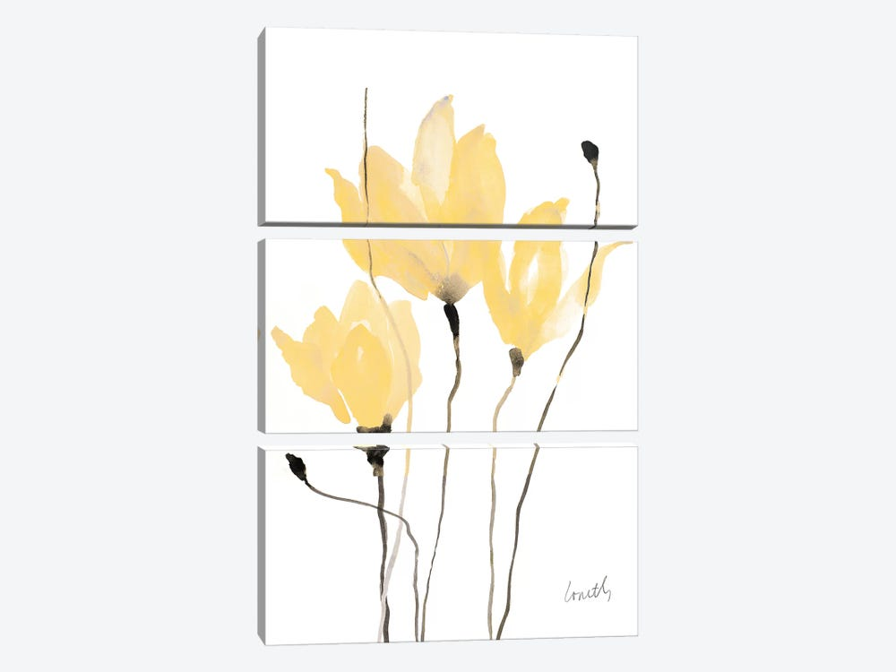 Yellow Sway by Lanie Loreth 3-piece Canvas Artwork
