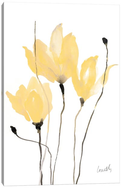 Yellow Sway Canvas Art Print