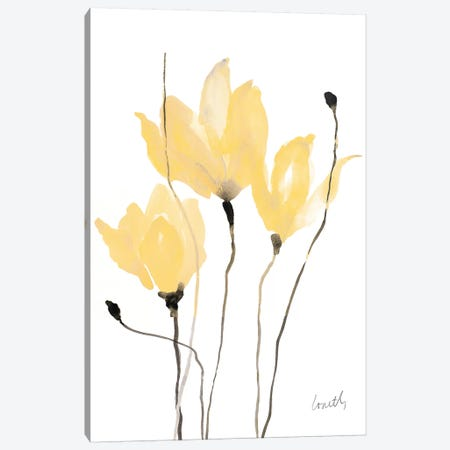 Yellow Sway Canvas Print #LNL245} by Lanie Loreth Canvas Artwork
